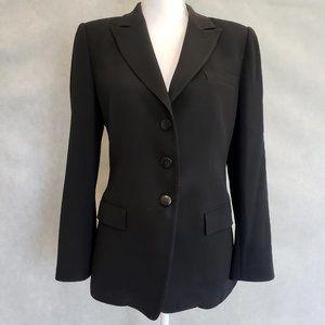 ARMANI COLLEZIONI Black Wool Blazer Jacket Size 10